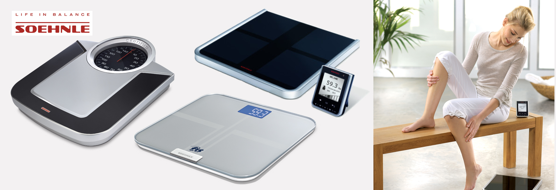 Soehnle Life in Balance : Discover our varied product range!  Personal Scales :  Body Analysis Scales, Digital Personal scales, Analogue Personal scales, Luggage Scale