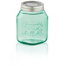 Leifheit Preserving Jar, 1.0 Litres, Jungle Green, Set Of 6