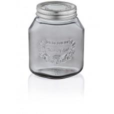 Leifheit Preserving Jar 1.0 Litres, Smokey gray, Set of 6