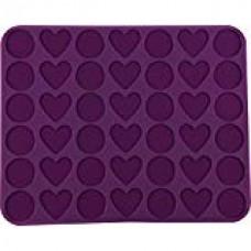 "Dr.Oetker Silicone Macarons Baking mat ""Hearts & Circles"", 42pcs."