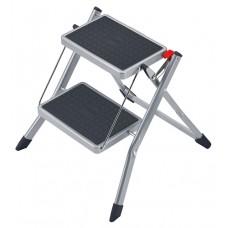 Hailo Folding step steel MINI Silver