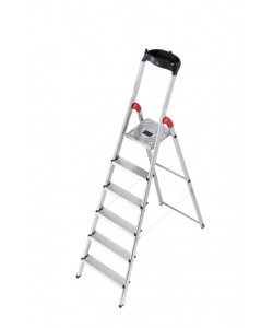 Hailo Safety-household stepladder 6 step