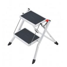 Hailo Folding step steel MINI White