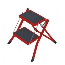 Hailo Folding step steel MINI Red