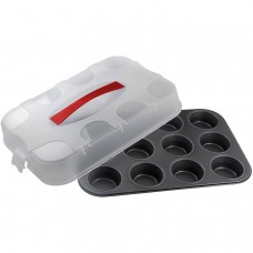 Dr.Oetker Muffin tin with cover 12 cups