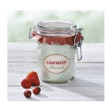 Leifheit Clip top jar 370 ml. Set of 6 n..