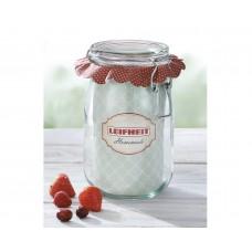 Leifheit Clip top jar 1140  ml. Set of 6..