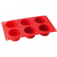 Dr. Oetker Silicone Muffin Tin,  6 Cups,..