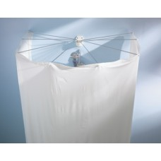 Spider Shower Curtain Set White