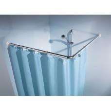 Angular Shower curtain rod